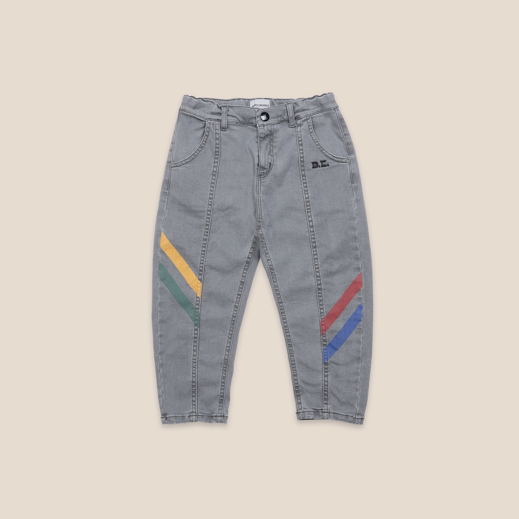 《BOBO CHOSES 2020AW》Multicolor Denim Trousers / 2-9Y