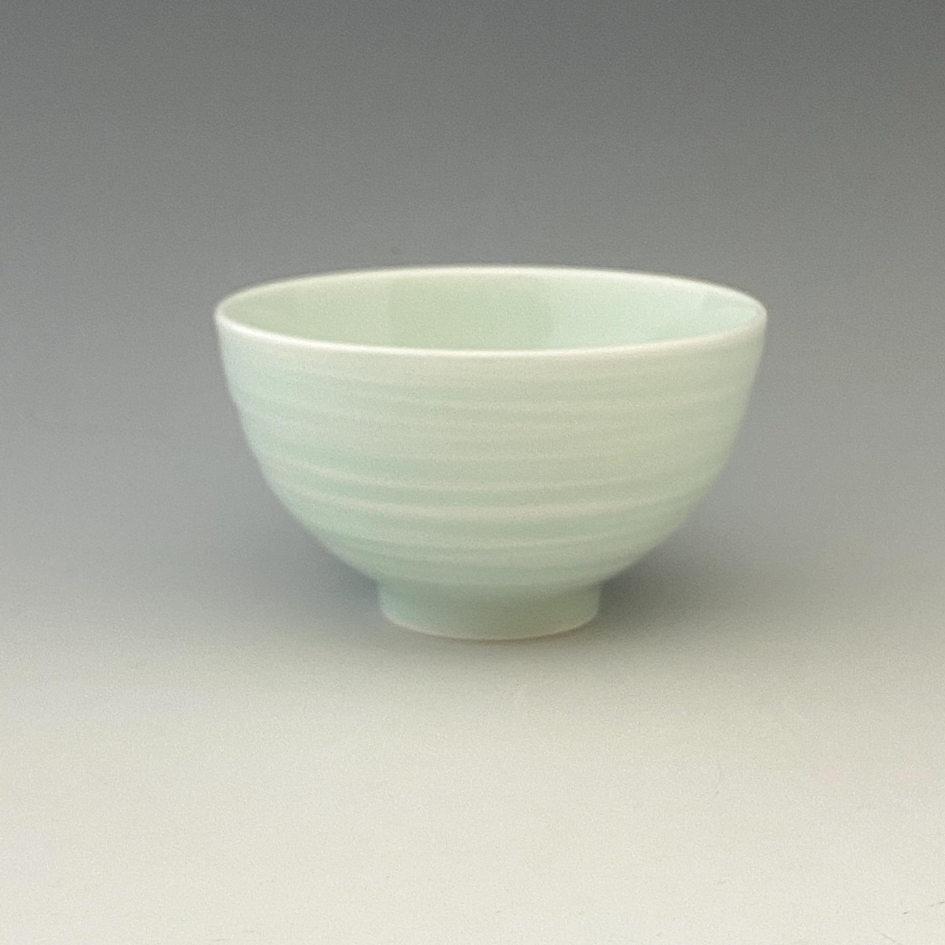 【中尾純】青白磁線彫碗(大)