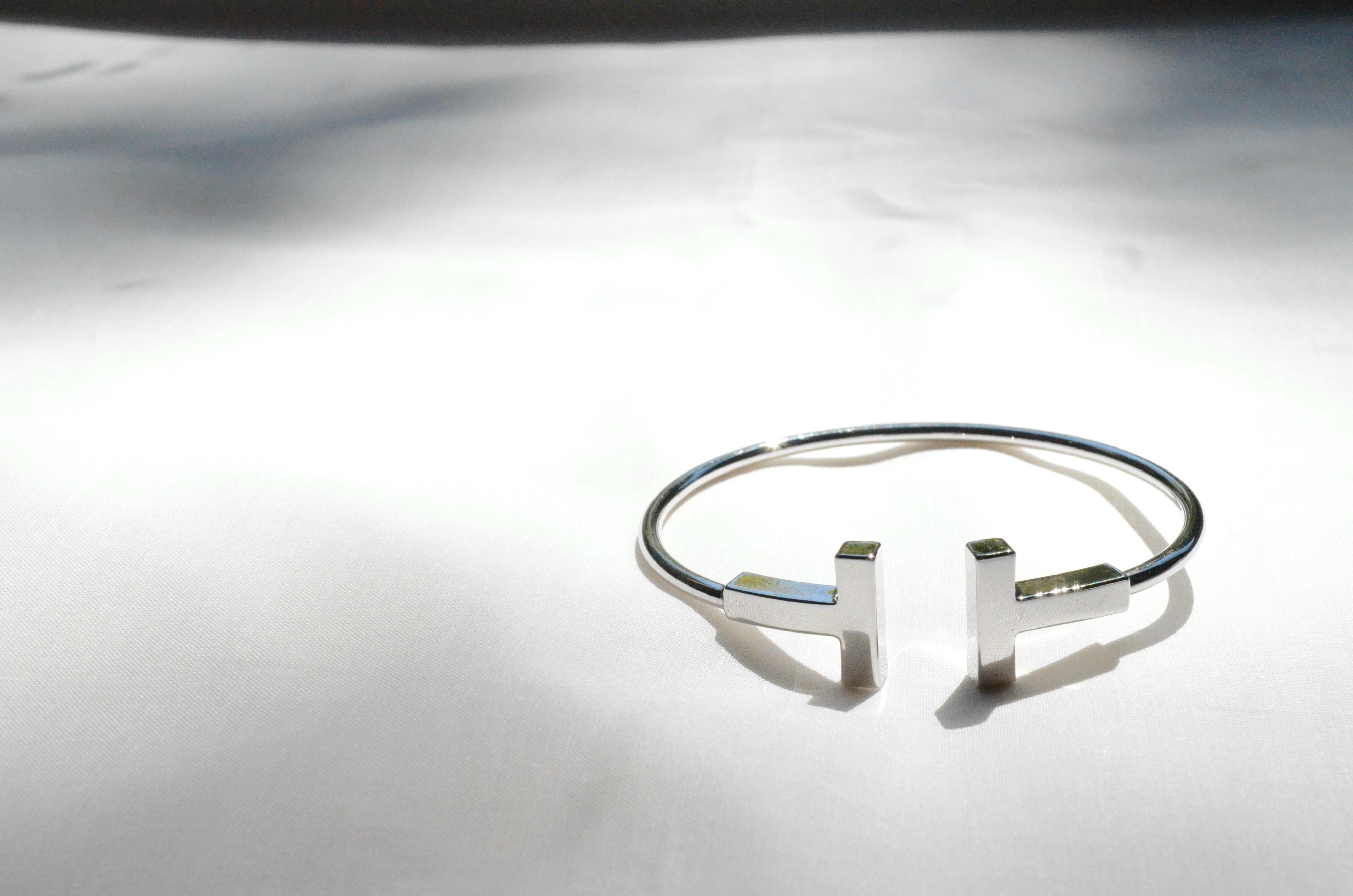 T型メタルバングルブレスレット シルバー