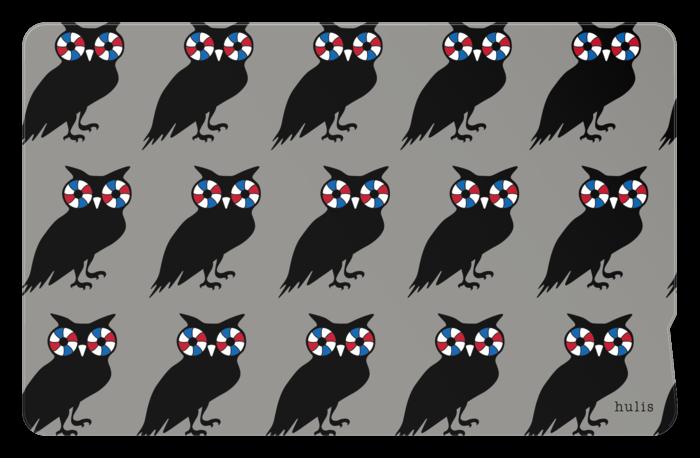 IC card sticker - Owl ≪送料込み≫