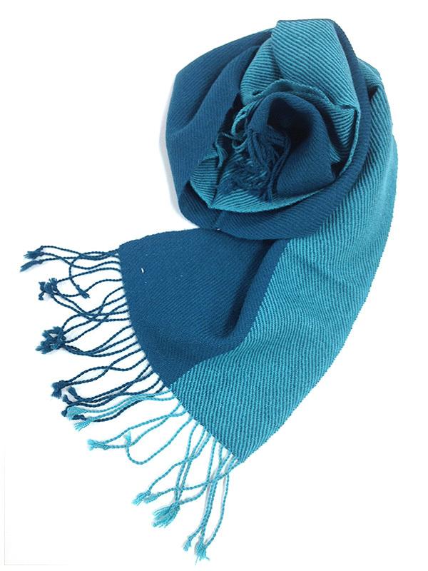 Cielo アルパカ100%ブルーマフラー (ブルー&ライトブルー2 colors)
