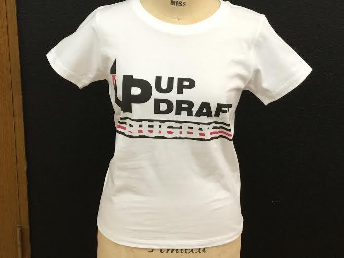 【ウィメンズ】オリジナルラグビーTシャツ ホワイト(綿100%)