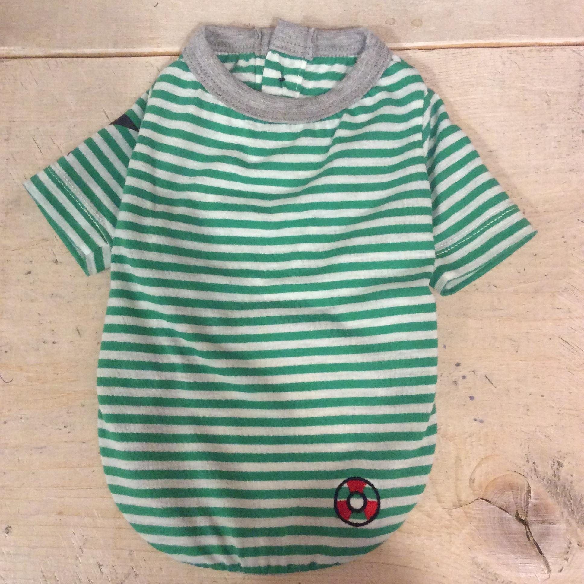 no914   スタープリント  ボーダーTシャツ