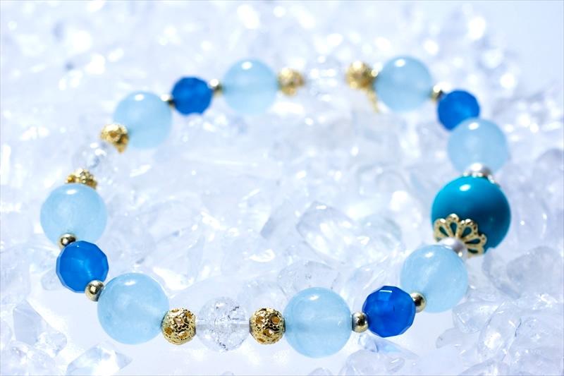 Blue sea【パワーストーンブレスレット 】 - 画像1