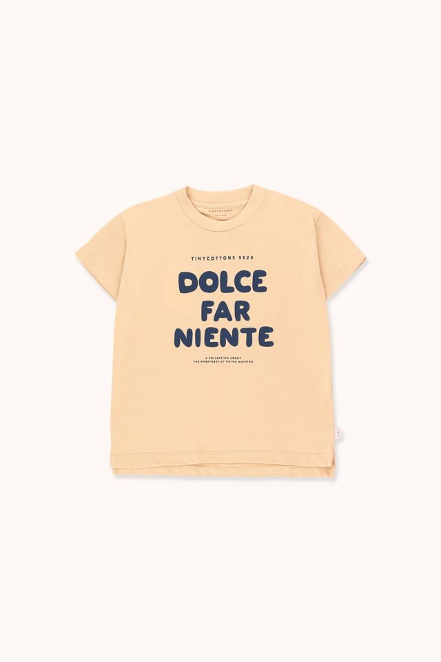 """TINYCOTTONS タイニーコットンズ """"DOLCE FAR NIENTE"""" TEE  size:2Y(95-100)・4Y(100-110)"""