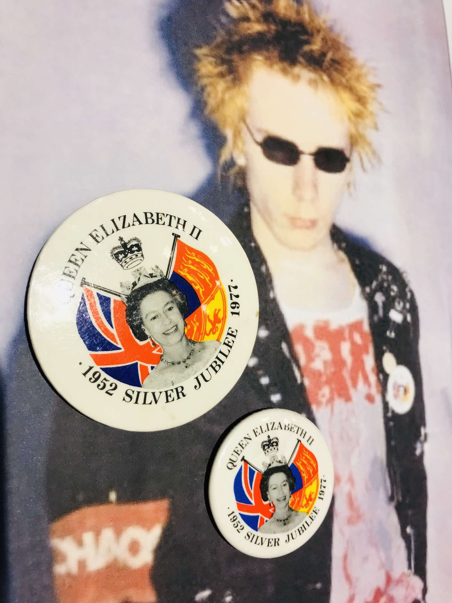 Silver Jubilee 1977 Badge 3.6cm