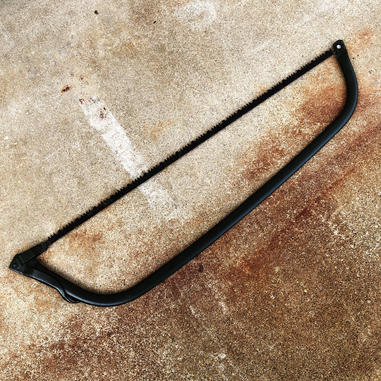 品番0611 弓鋸 弓ノコ のこぎり 米軍 工具 ブラック ディスプレイ ヴィンテージ