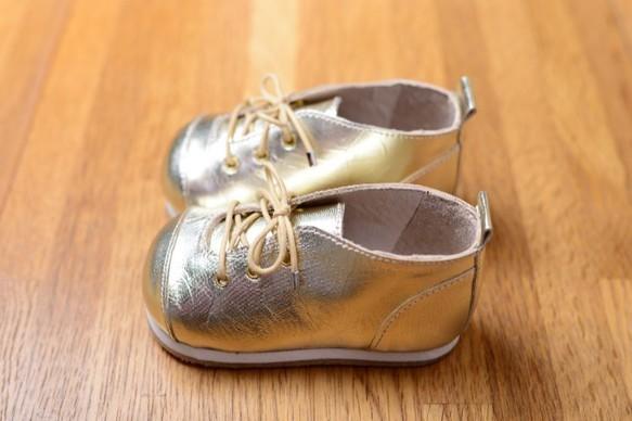 子供靴 ゴールド紳士 山羊革