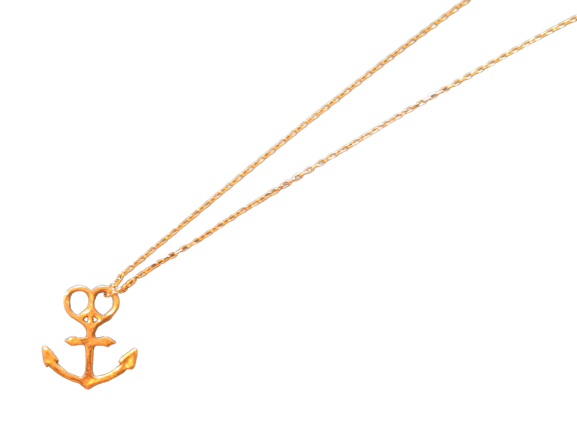 "MAHINA MELE ORIGINAL ""Anchor Necklace 10K"""