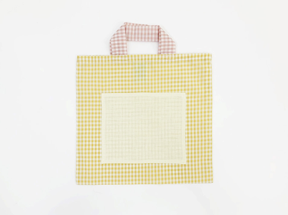 Small Yellow Bag Check Fabric / Poetic Pastel