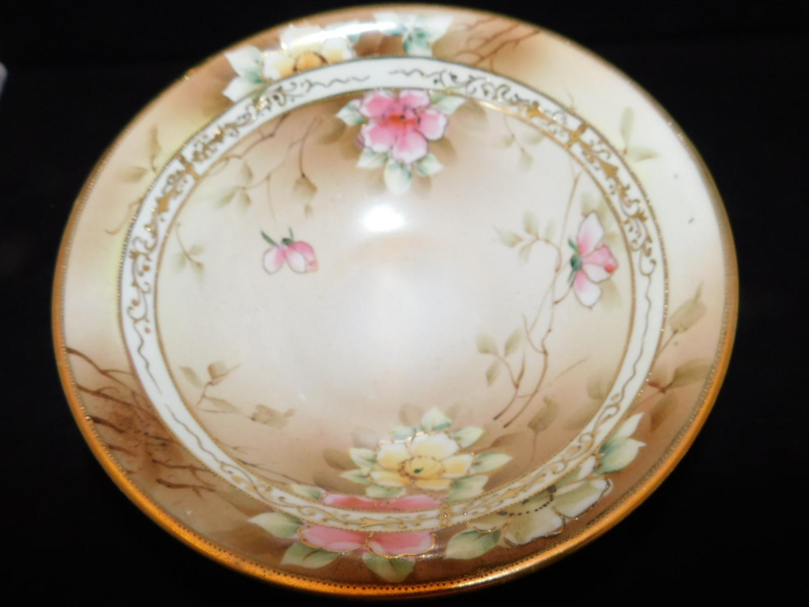 オールドオリタケ鉢 Early Noritake salad bowl (Hand Painted )