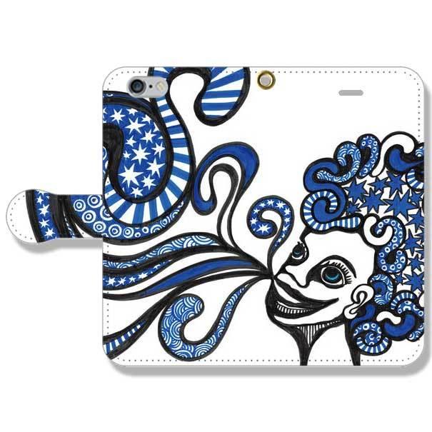 ◆手帳型スマホカバー◆ ブルーラッパー iphone5・iPhone5s・iPhone6・iPhone6s・iPhone6Plus・iPhone6sPlus・Galaxy・Xperia・Arrows・URBANO・AQUOS・Google・HTC・ELUGAの各種スマートフォン対応