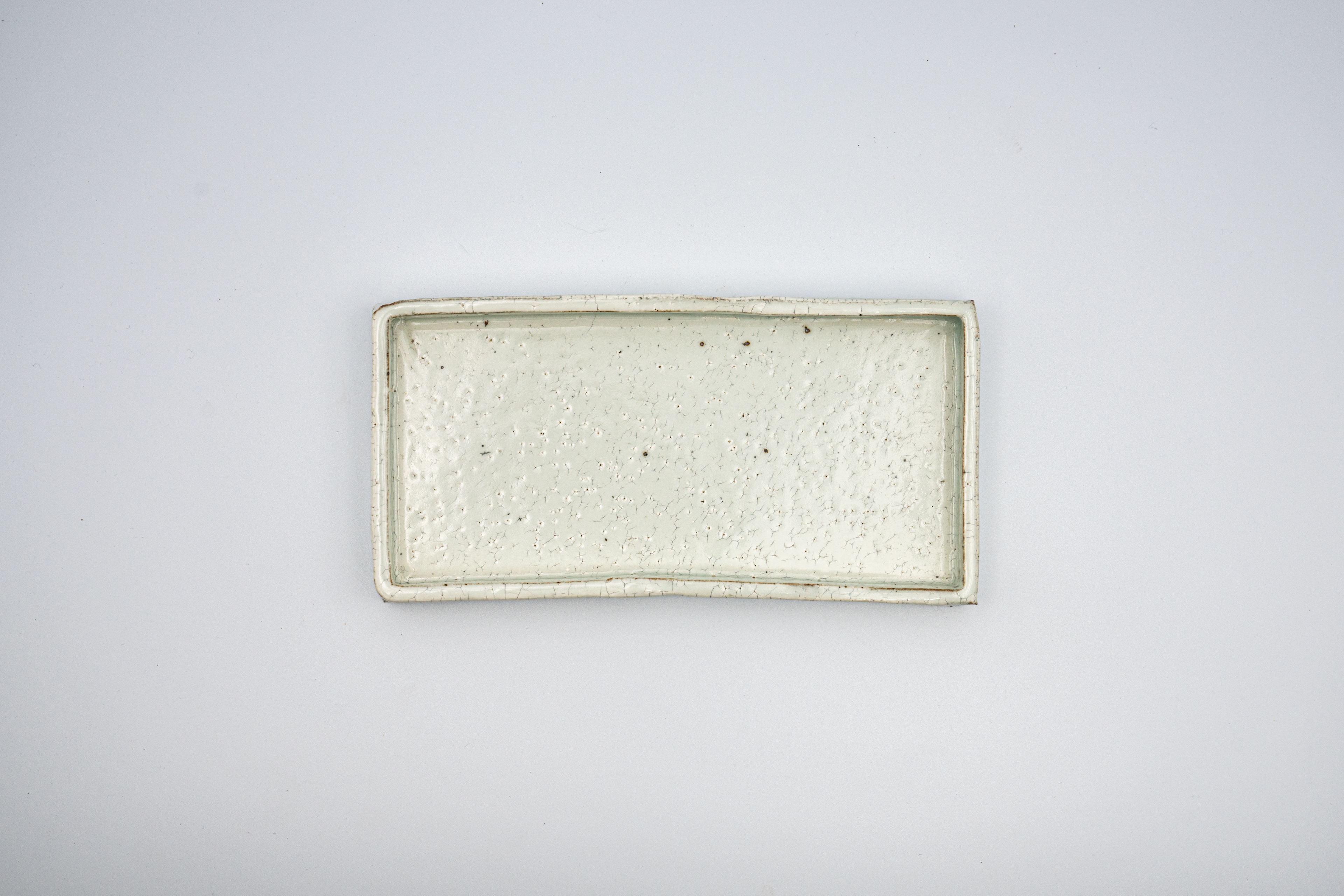 ◆受注生産◆粉引平長角皿(小) 三浦繁久作