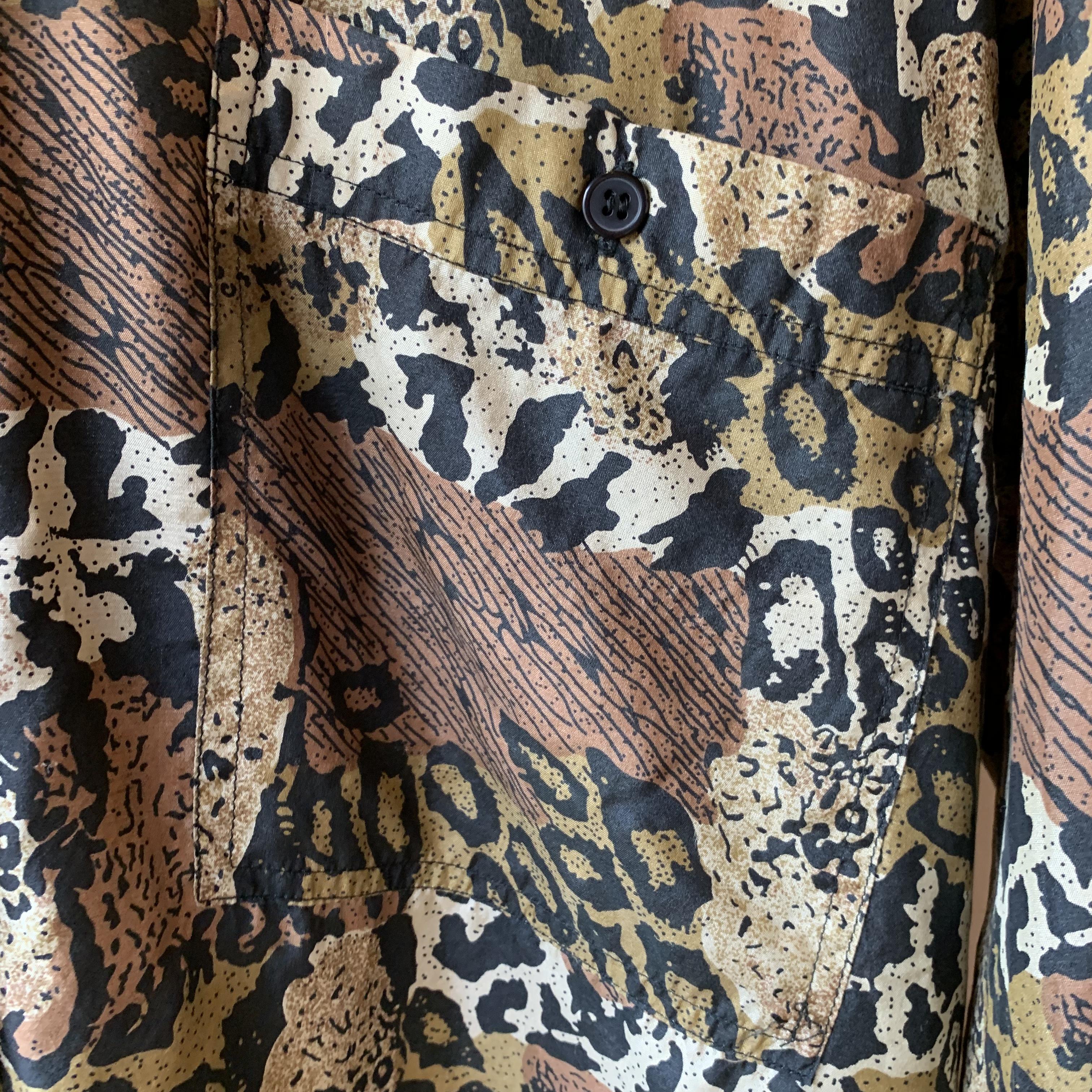 vintage leopard silk shirts
