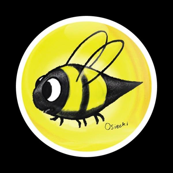 ゴーバッジ(ドーム)(CD0508 - SWIRL BEE) - 画像1