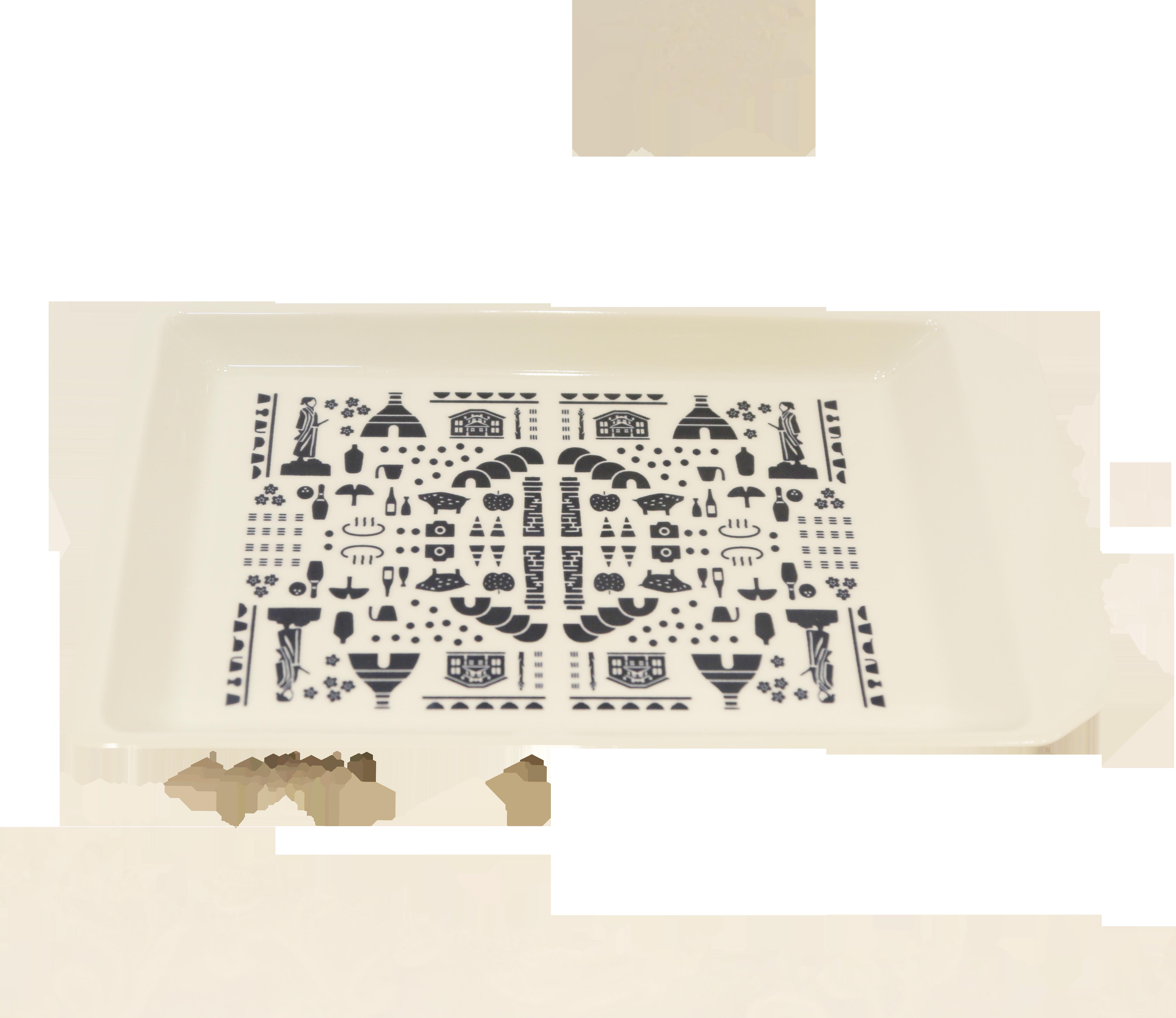 波佐見焼 キリトルプレート(Posi)大 【W29.6 × D17.6 × H2.5】
