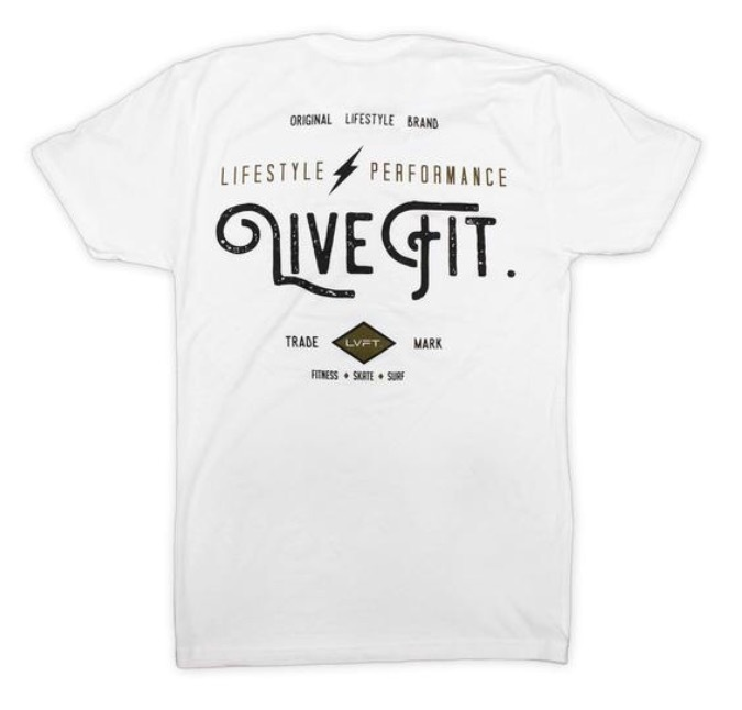 LIVE FIT Vintage Tee- White