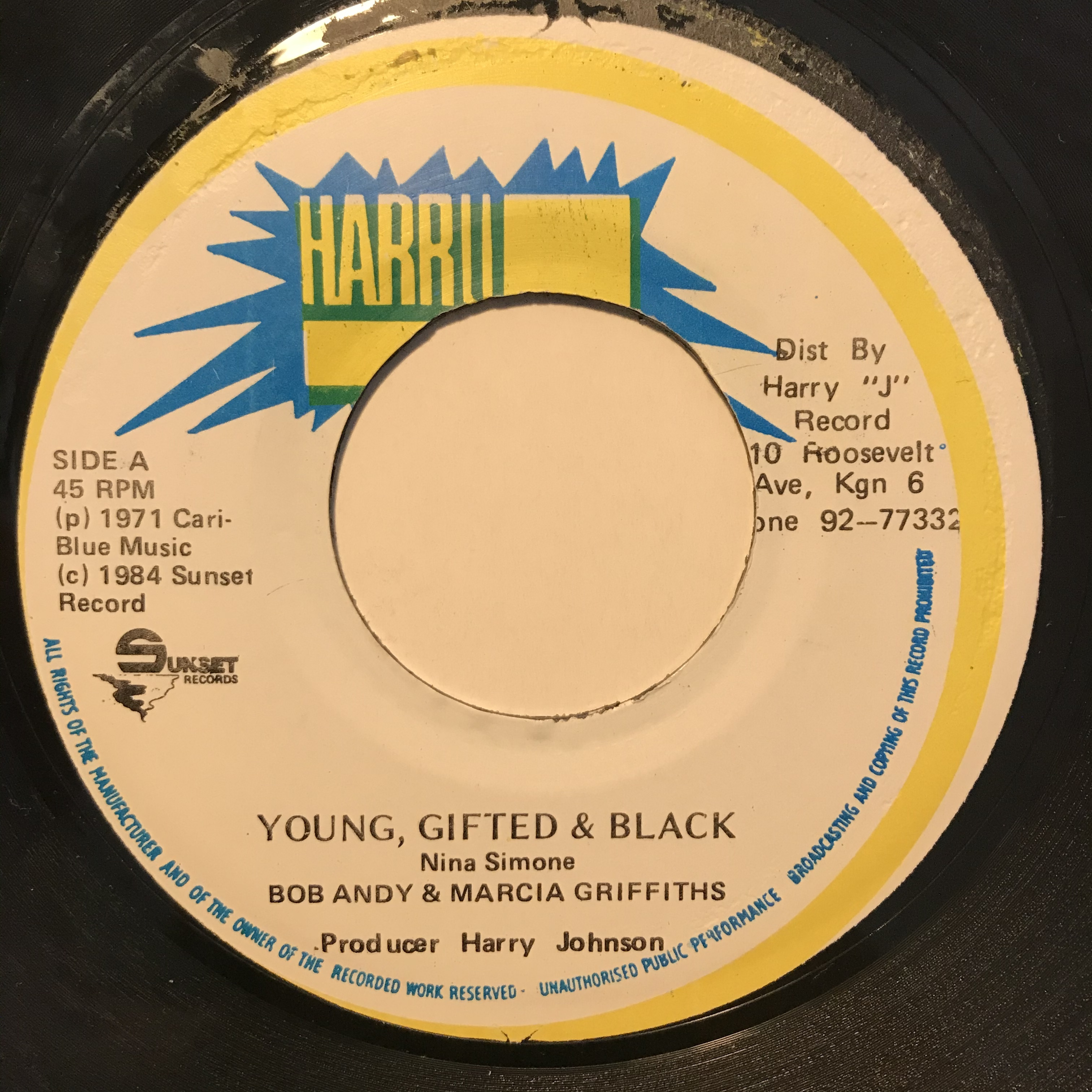 Bob Andy & Marcia Griffiths - Young Gifted & Black【7-10823】