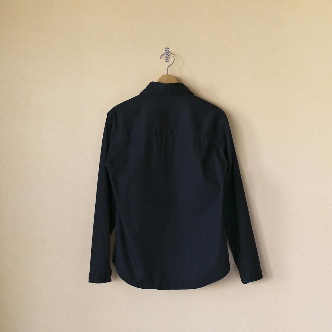 LOLO ロロ 定番比翼シャツ・ブラック