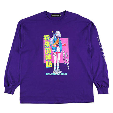 ROLLING CRADLE(ロリクレ) | KAWAII GIRL LONG SLEEVE (Purple)