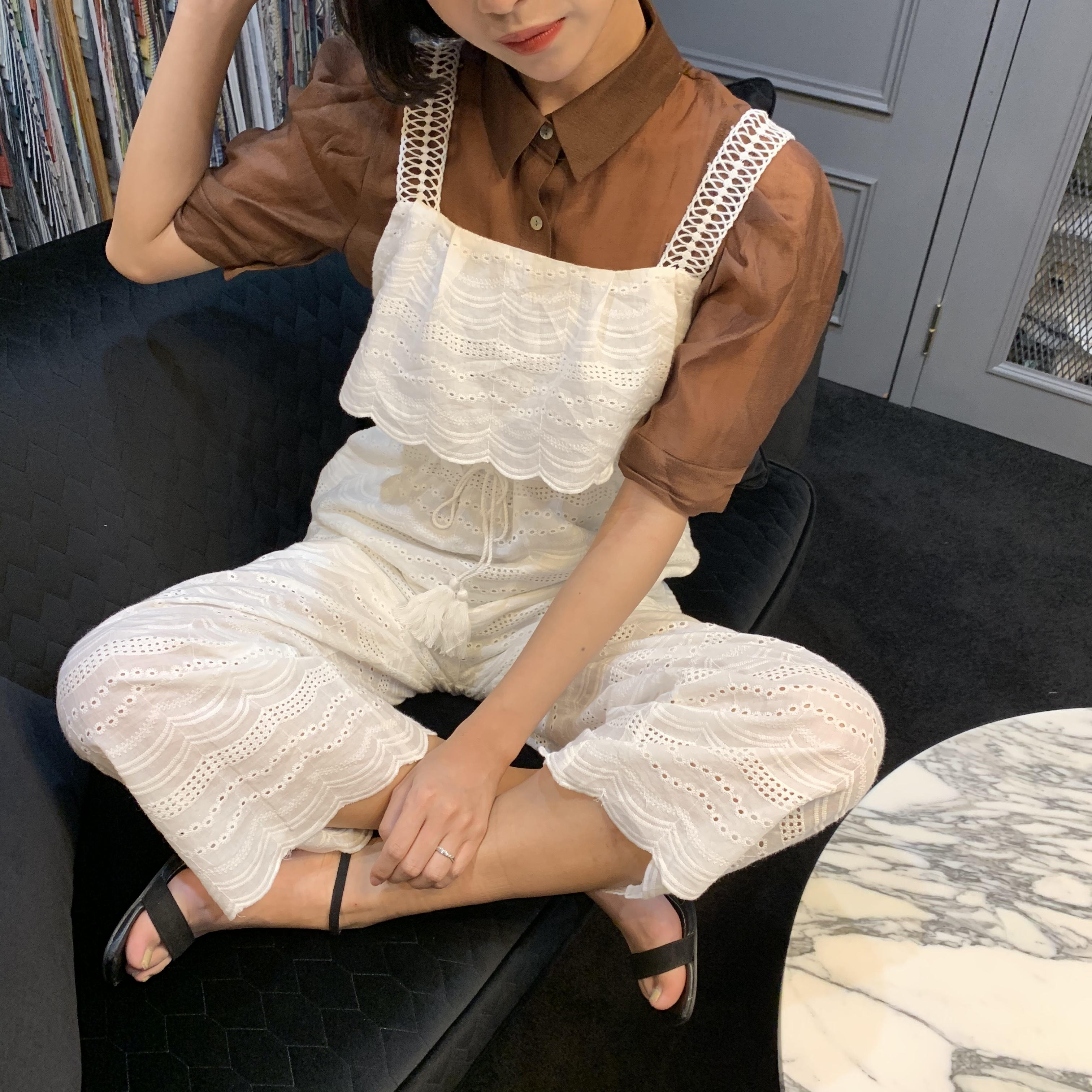 cotton lace all-in-one