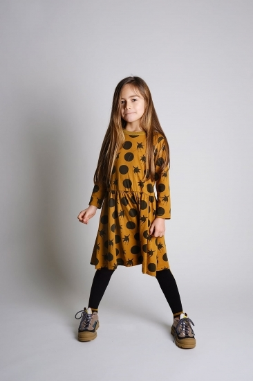 WOLF & RITA ウルフ&リタ JACINTA - DRESS DISCO BIRD YELLOW size:2Y(90-100)