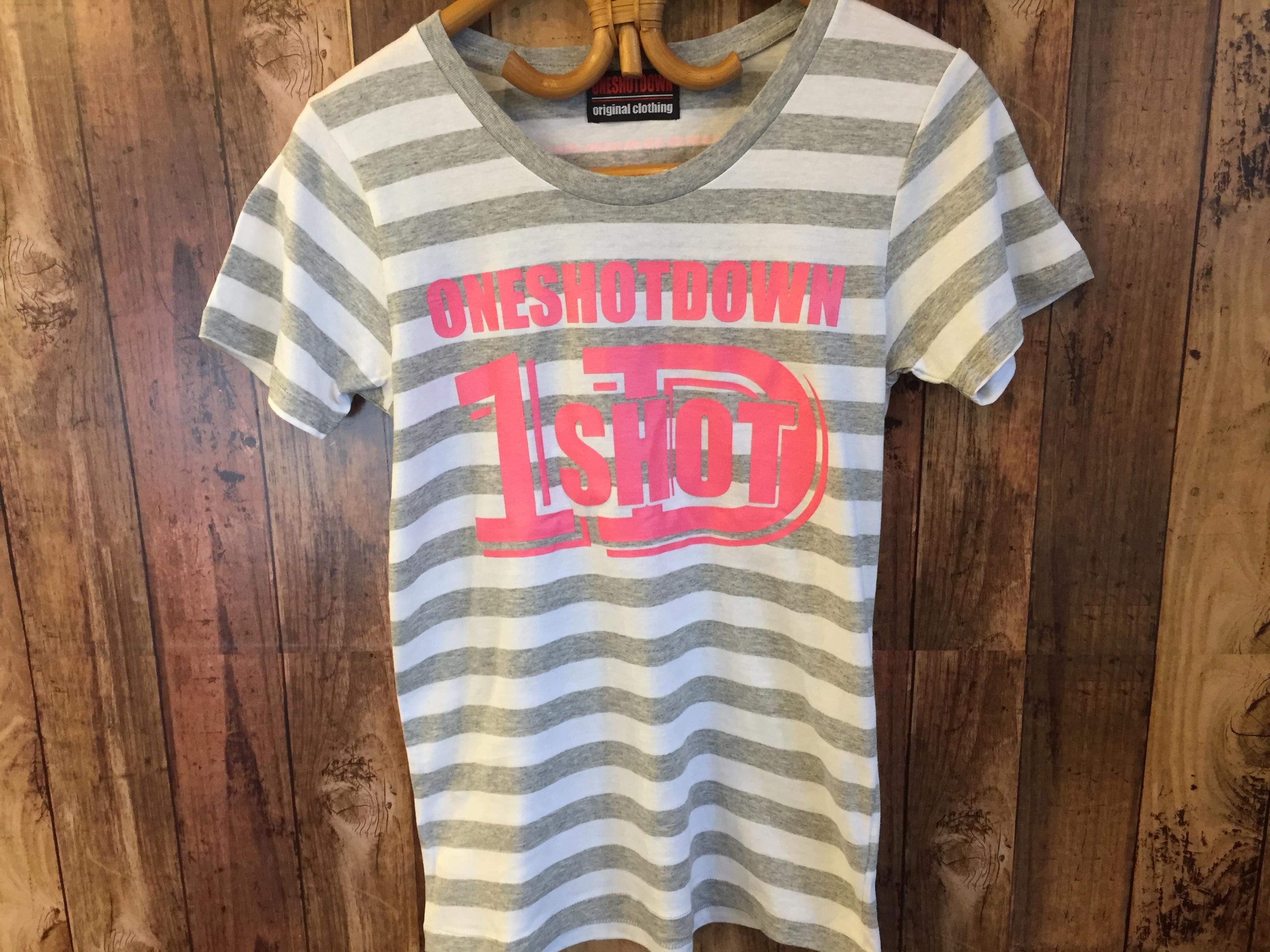 ONESHOTDOWN ガールズ ボーダーTシャツ - 画像5
