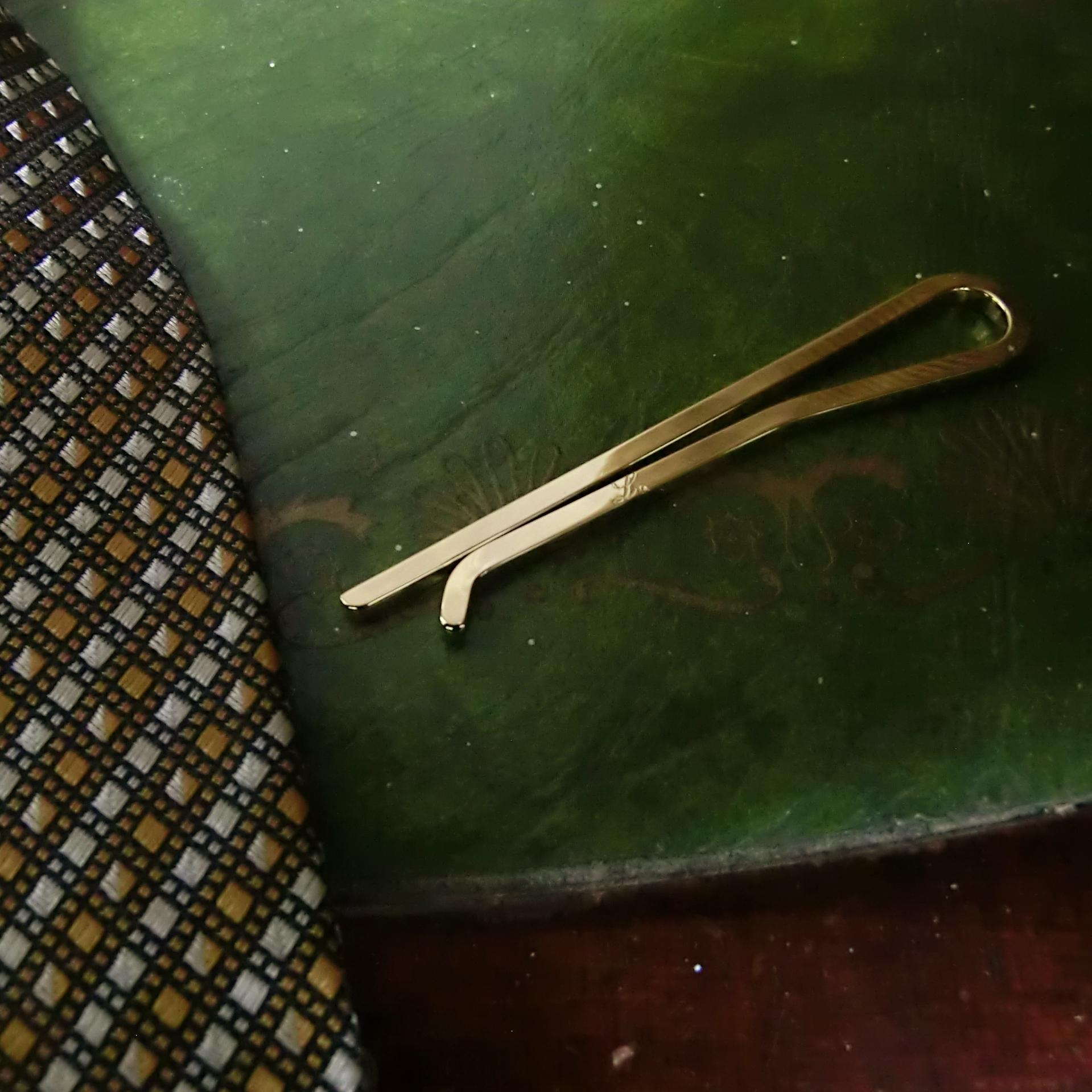 NARROW TIE SLIDE -18K gold plated- ナローネクタイピン 18Kゴールドコーティング