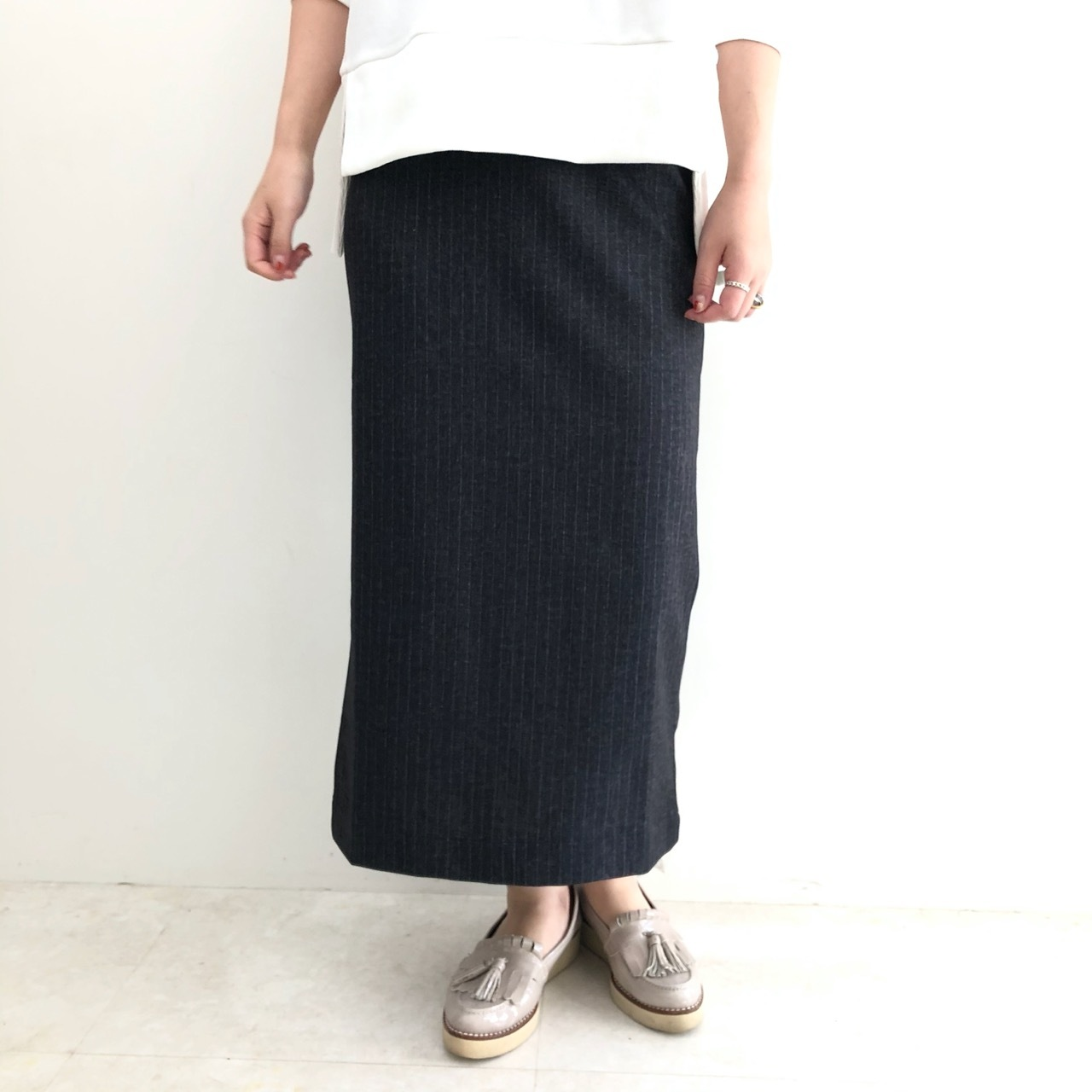 【 Praia 】- LER-19135 - ストライプスカート