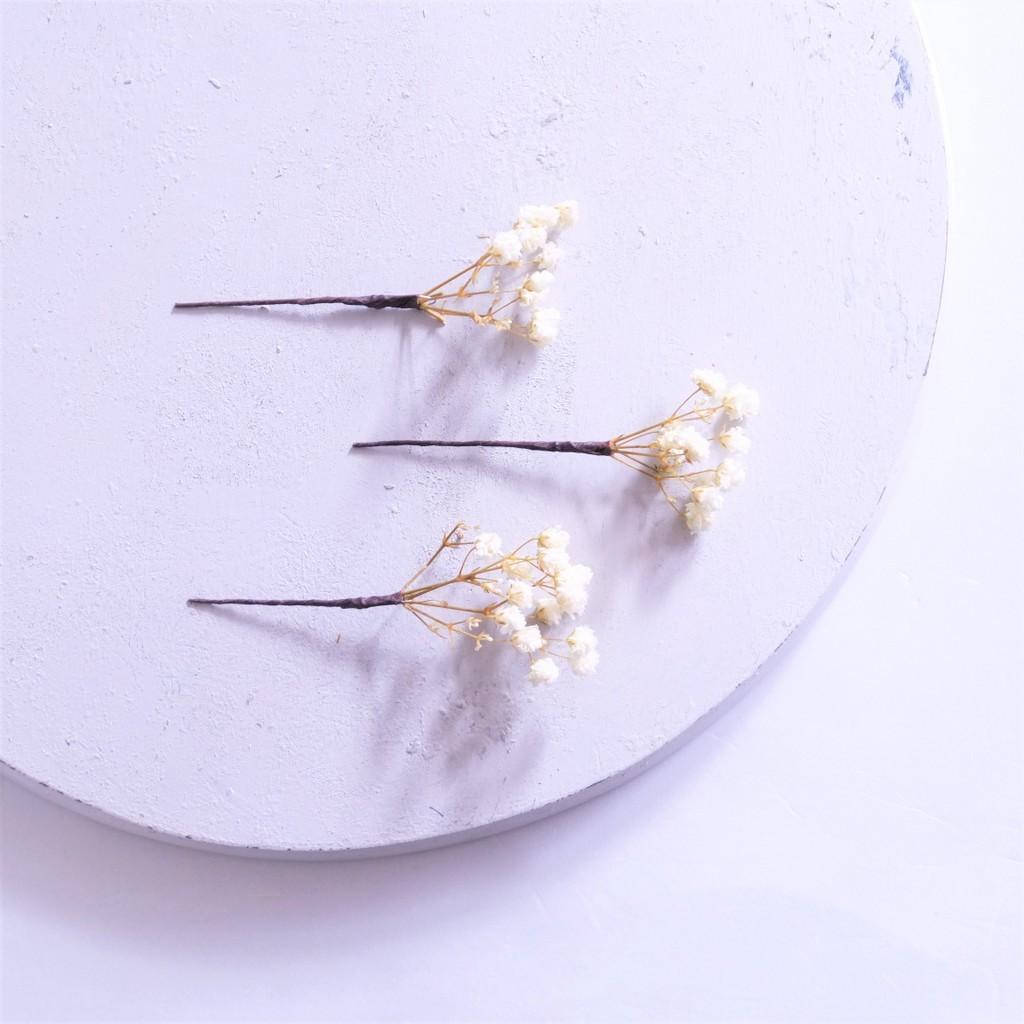 〖 アンティークプリザ・大輪カスミ草 のヘッドドレスパーツ3点 〗お好きなプリザ花材をカスタムメイドでお作り致します