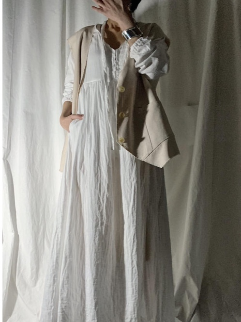 【PROVOKE】GAUZE MAXI-DRESS