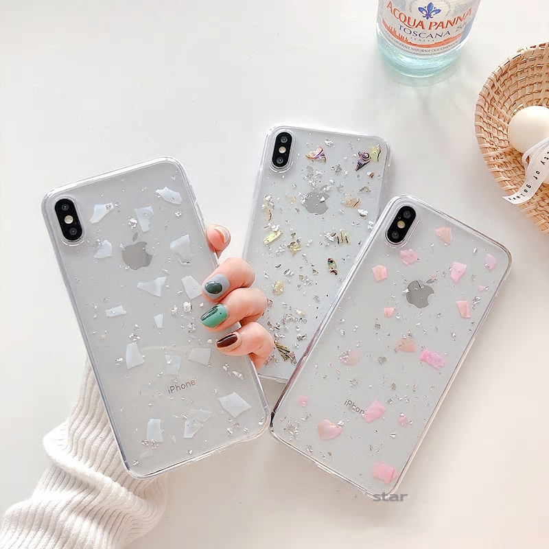 【お取り寄せ商品、送料無料】3カラー クリア グリッター ソフト iPhoneケース iPhone11