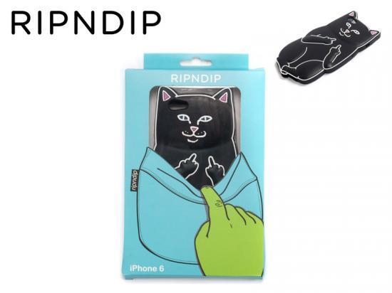 RIPNDIP (リップンディップ) LORD NERMAL IPHONE CASE 6Plus& 6sPlus対応 iPhoneケース スマホケース BLK【正規品】