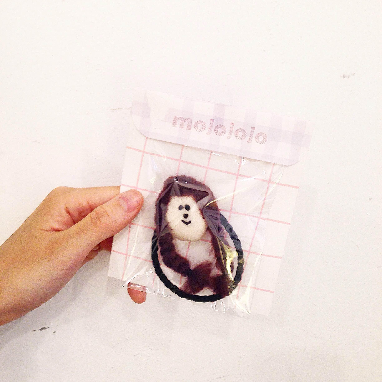 【NEW】mojojojo/お顔へアゴム(みつあみ)