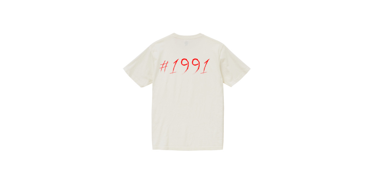 1991 vintage T-shirt (WH/RED)