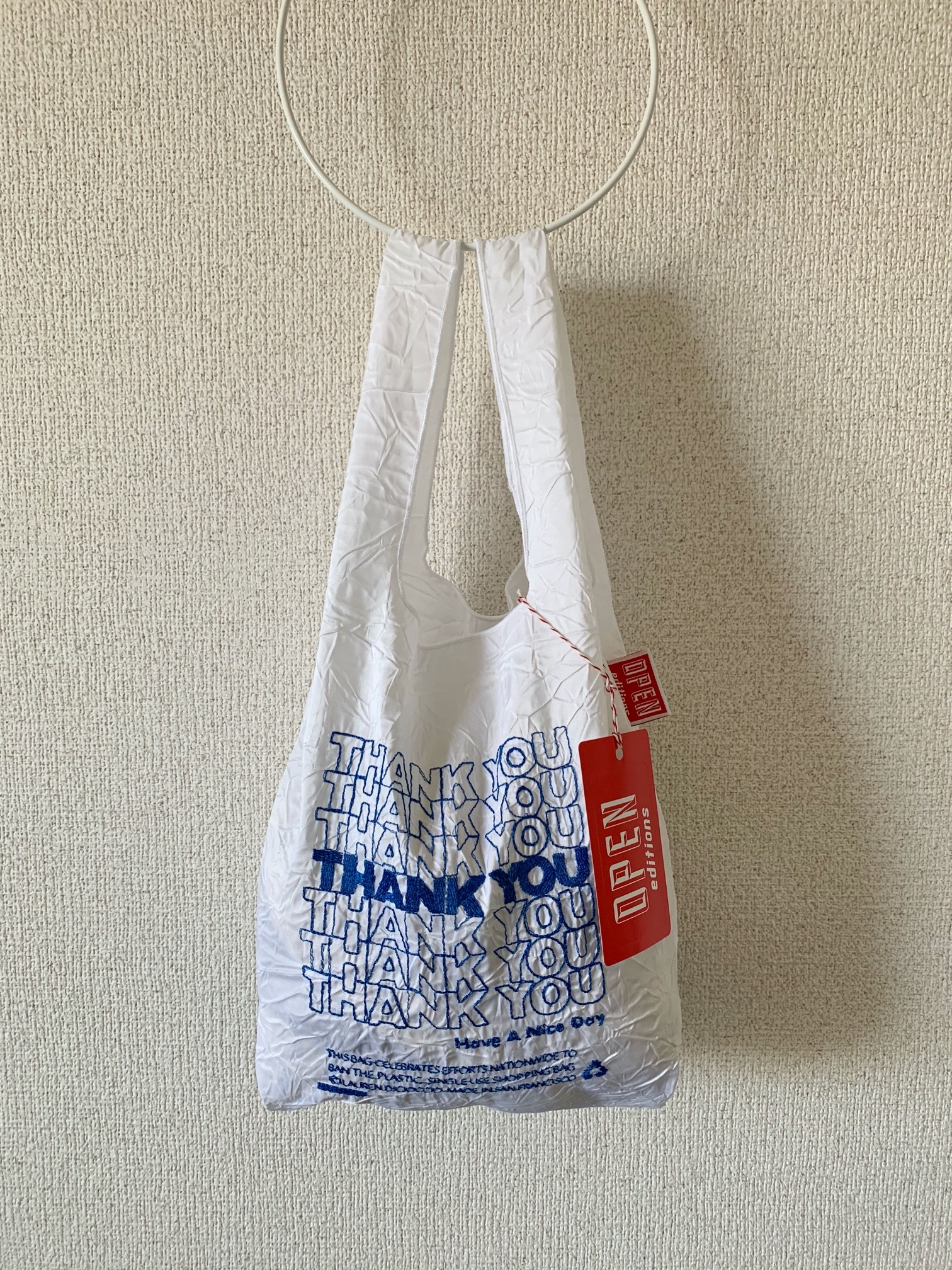 【OPEN EDITIONS】THANK YOU MINI エコバッグ/ THANK YOU Blue
