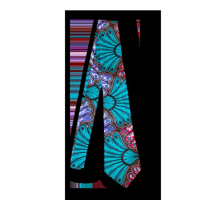 アフリカ柄ネクタイ(Necktie 扇)