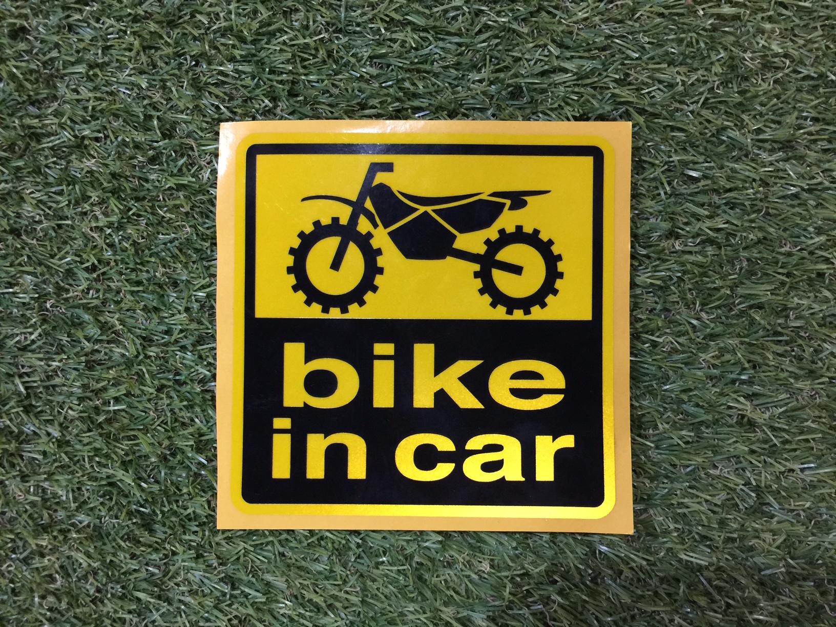 bike in car 反射ステッカー(オフ)