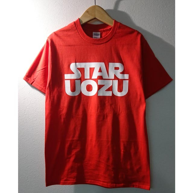 STAR UOZU Tシャツ レッド×ホワイト