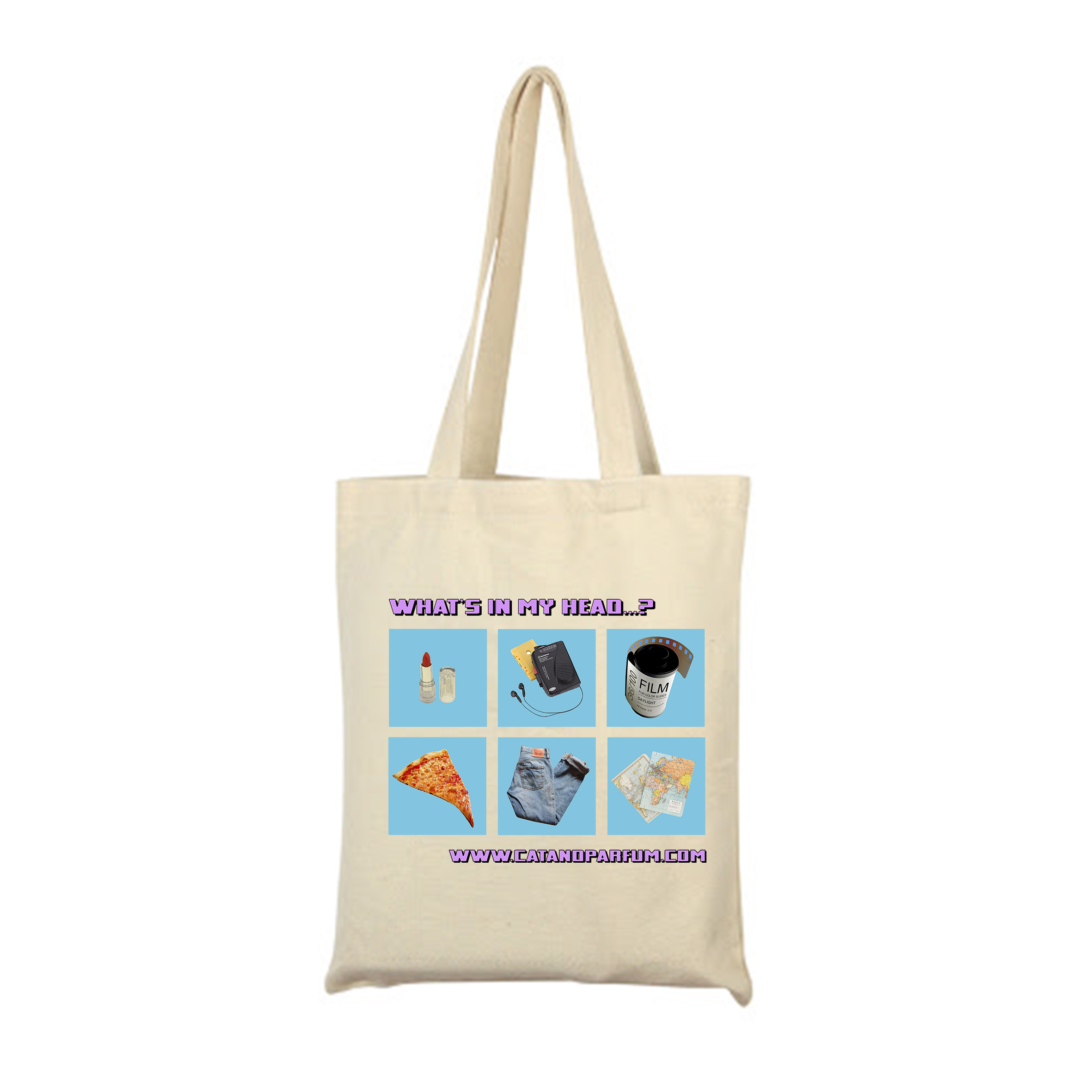 What's in my head...? Cotton Tote Bag