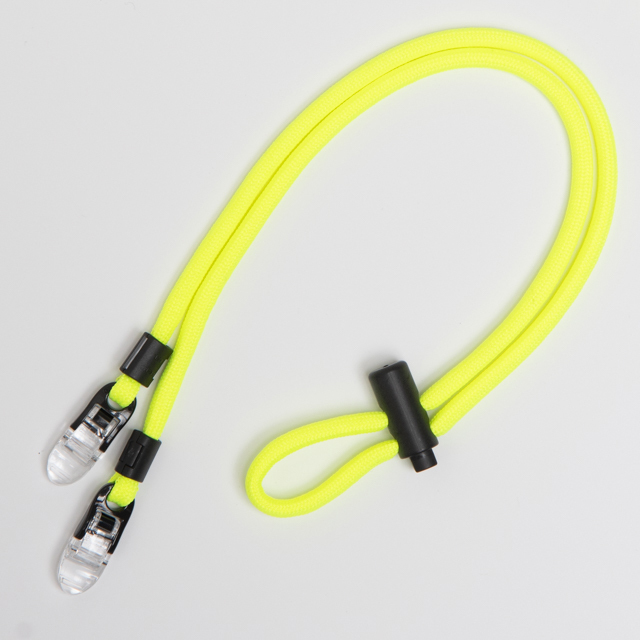 """ROPE LACES MASK HOLDER STRAP  """"NEON YELLOW"""""""