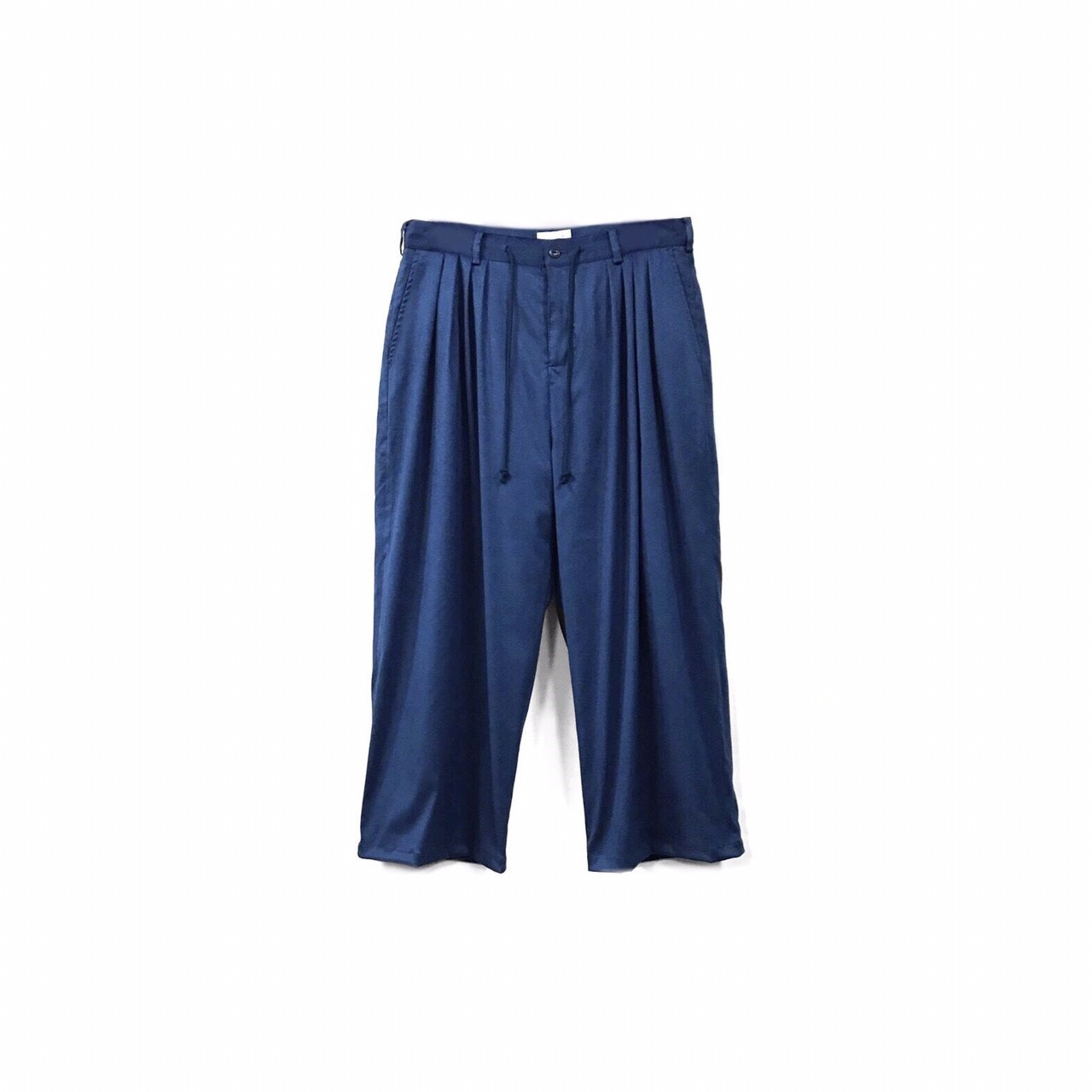 yotsuba - Fake Suede 4tuck Wide Pants / Blue ¥26000+tax