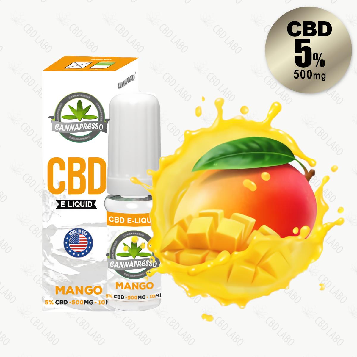 【送料無料】CANNAPRESSO CBDリキッド マンゴー 10ml CBD含有量500mg (5%)
