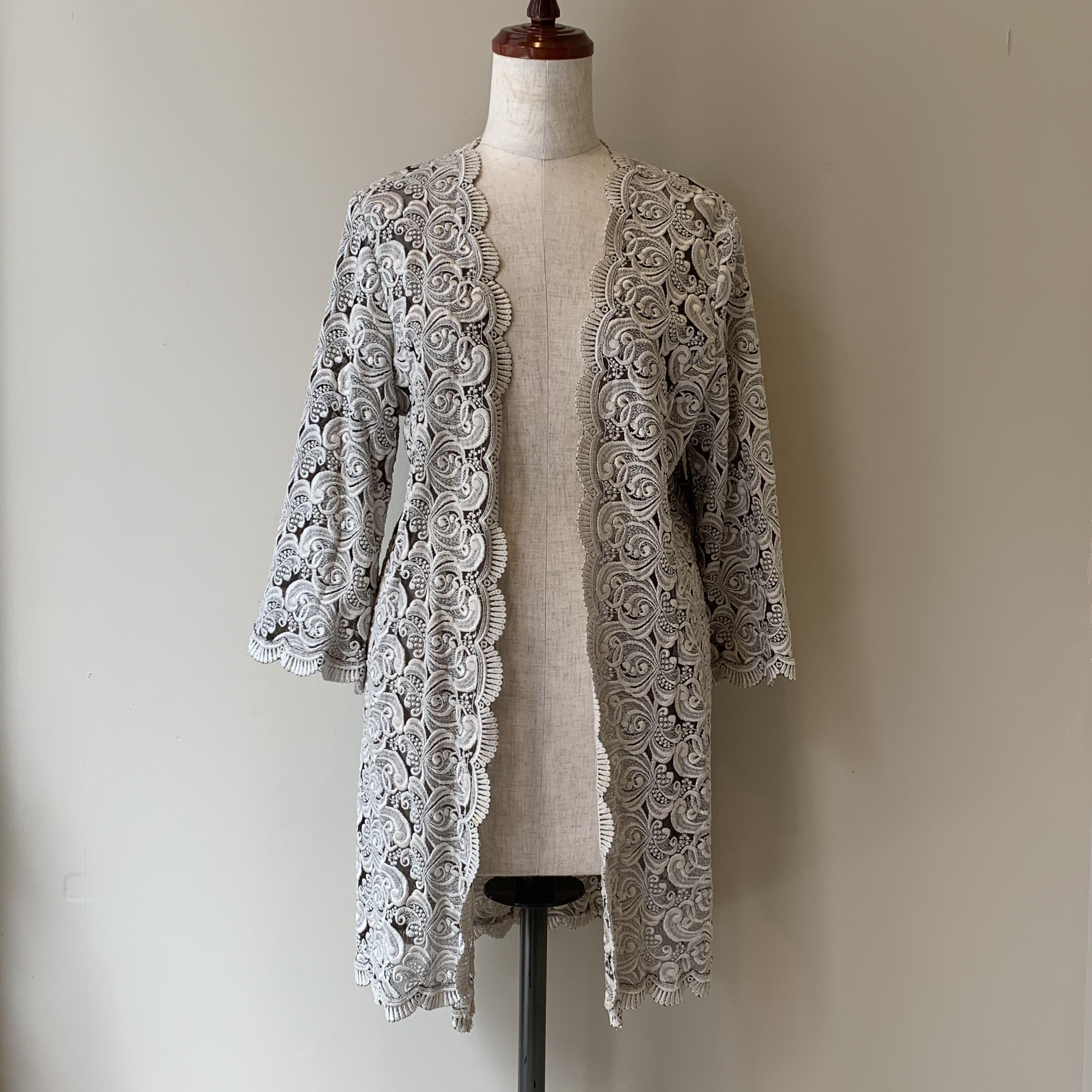 60s vintage lace haori
