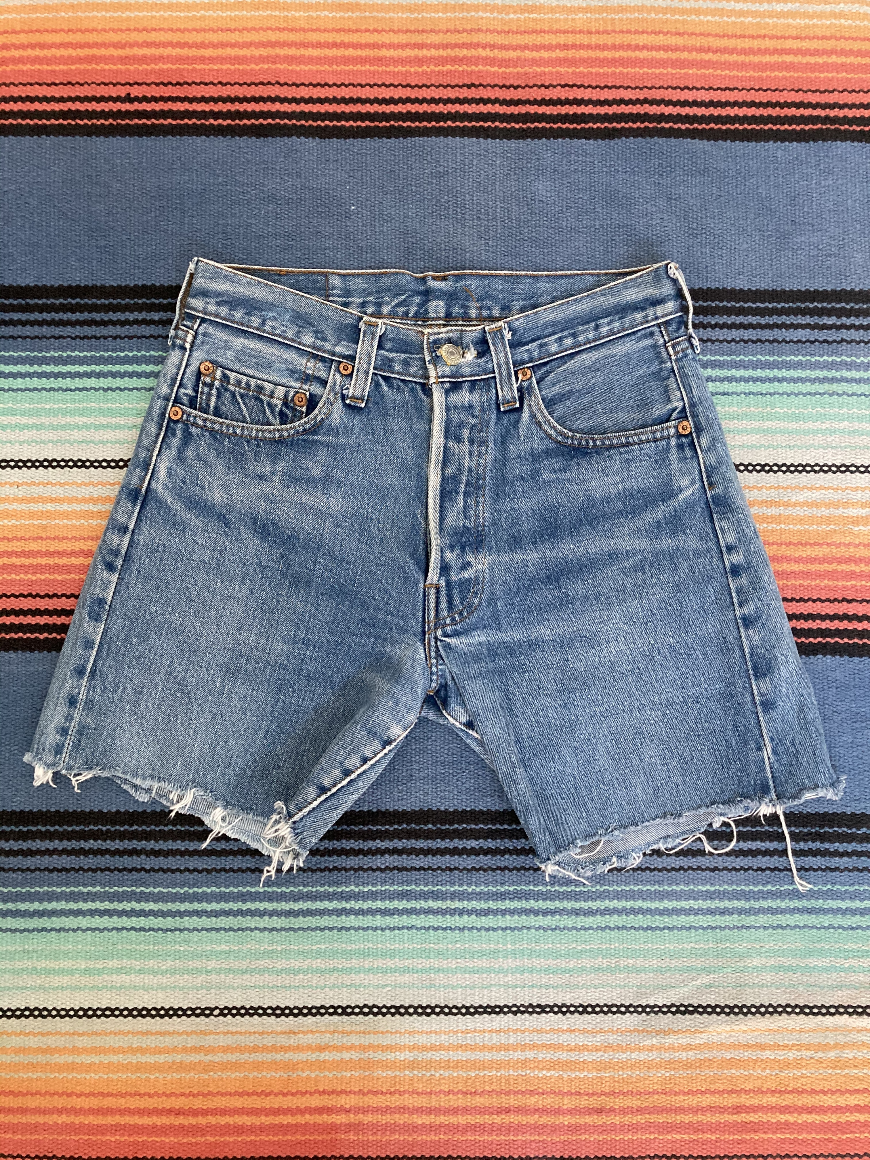 80's Levi's Red Line Cut Off Short Pants <MADE in USA>