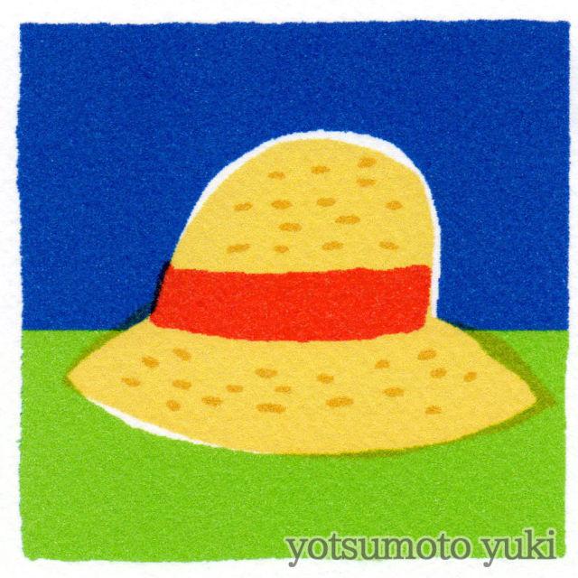 ポストカード - 麦わら帽(暑中見舞) - ヨツモトユキ - no9-yot-05