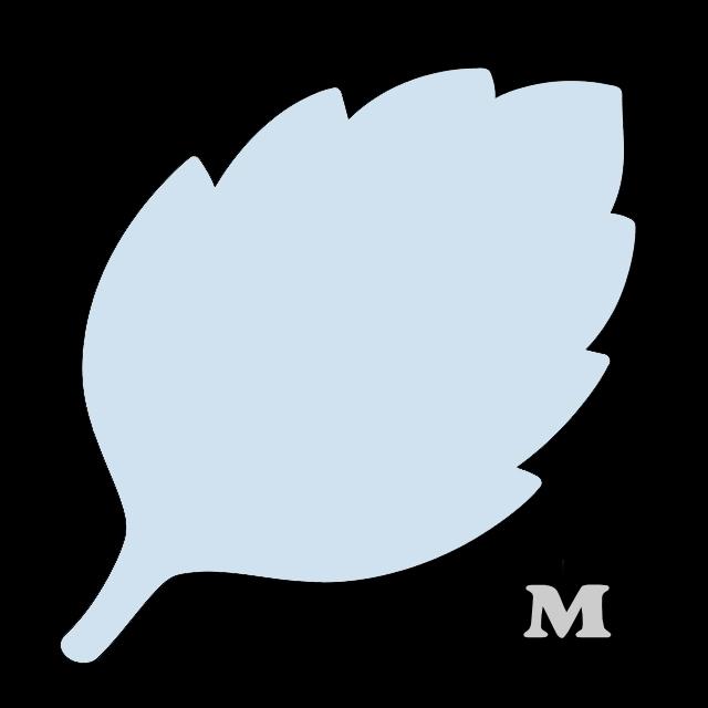 葉っぱ型(M)★ライトブルー