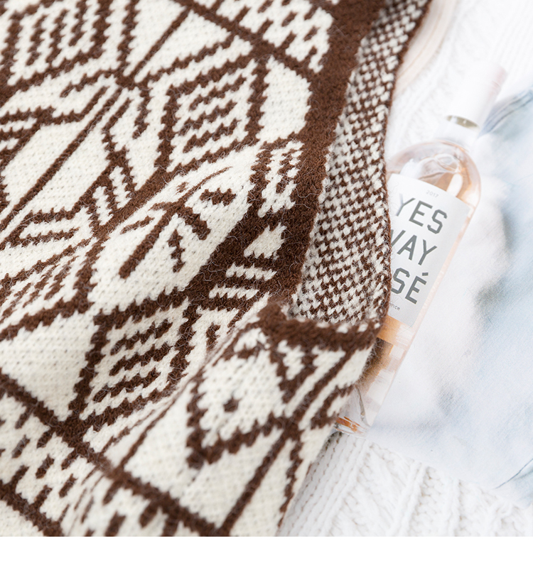 〈カフェシリーズ〉雪の結晶のニットベスト【snow crystal knit vest】