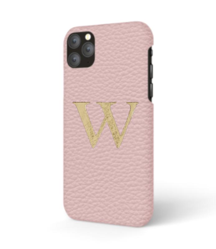 iPhone Premium Shrink Leather Case (Blush Pink)
