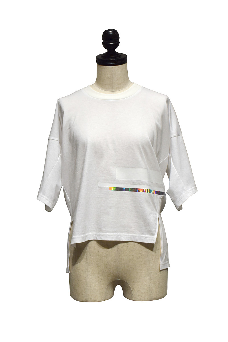 tactor / DRAPED SMALL T-SHIRT / White